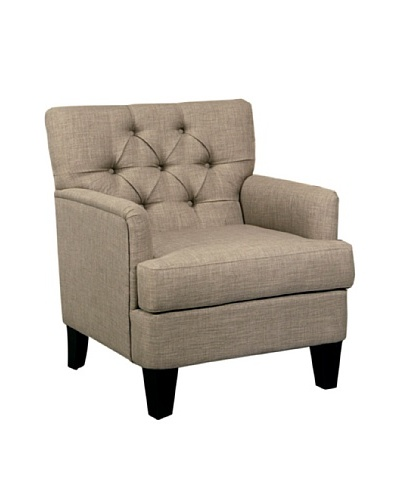 Abbyson Living Freemain Tufted Club Chair, Taupe