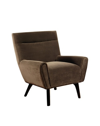 Abbyson Living Marquee Microsuede Armchair, Dark Brown