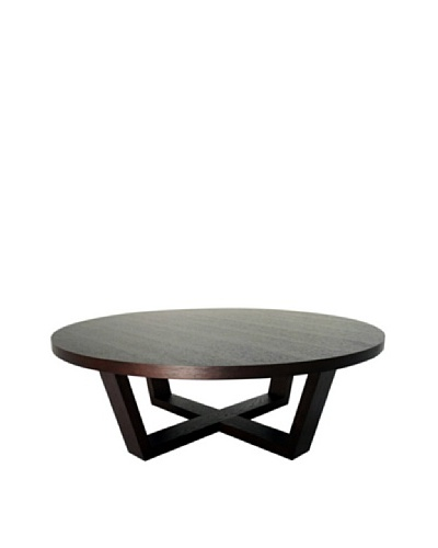Abbyson Living Samila Round Coffee Table, Espresso