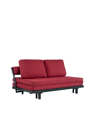 Abbyson Living Germana Convertible Sofa Bed, Candy Apple Red