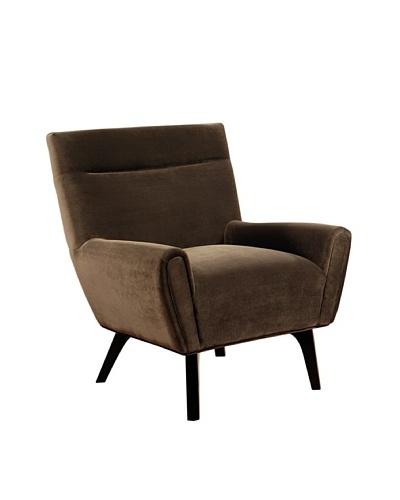 Abbyson Living Marquis Microsuede Armchair, Dark Brown
