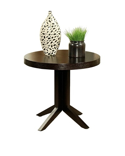 Abbyson Living Heritage Round Espresso Tea End Table