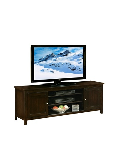 Abbyson Living Cassie Solid Oak Wood TV Console, Espresso
