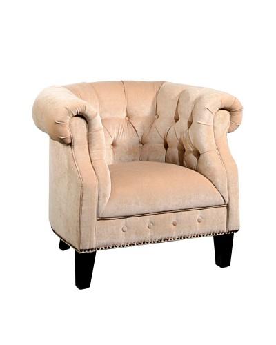 Abbyson Living Camber Nailhead Trim Armchair, Cream