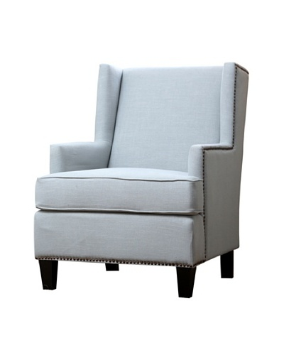 Abbyson Living Morrena Nailhead Trim Armchair, Light Blue