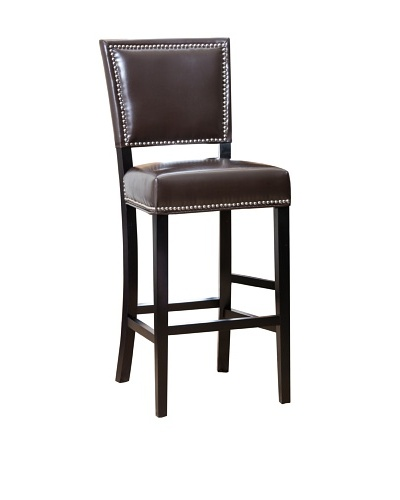 Abbyson Living Blissim Bar Stool, Maple Almond