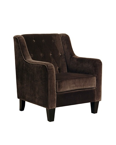 Abbyson Living New Yorker Armchair, Dark Brown