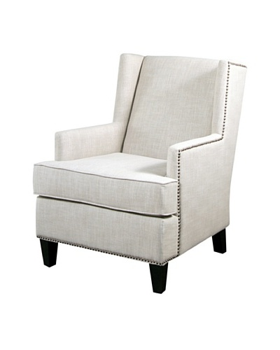 Abbyson Living Morrena Nailhead Trim Armchair, Natural