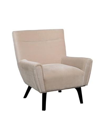 Abbyson Living Marquis Microsuede Armchair, Cream/Espresso