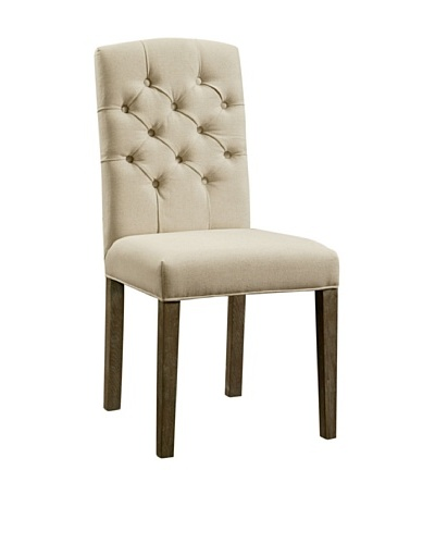 Abbyson Living Larua Tufted Dining Chair, Beige