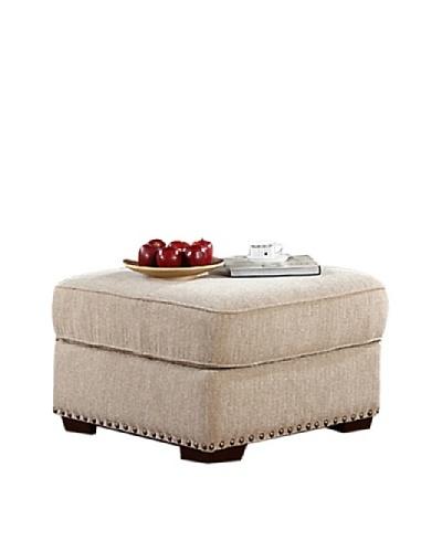 Abbyson Living Bromley Fabric Ottoman, Sandstone, 38X42X40