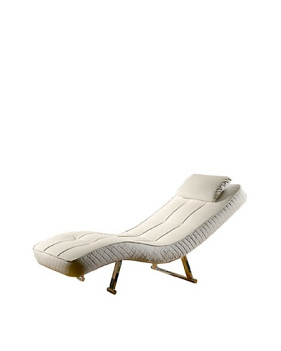 Abbyson Living Carpin Euro Chaise, Pure White