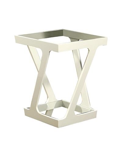 Abbyson Living Zentro Glass End Table