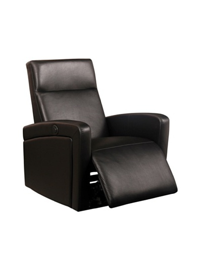 Abbyson Living Milano Electric Recliner, Black
