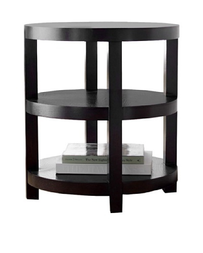 Abbyson Living Maytime Round End Table, Rich Caramel