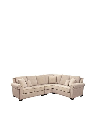 Abbyson Living Bromley Sectional, Sandstone