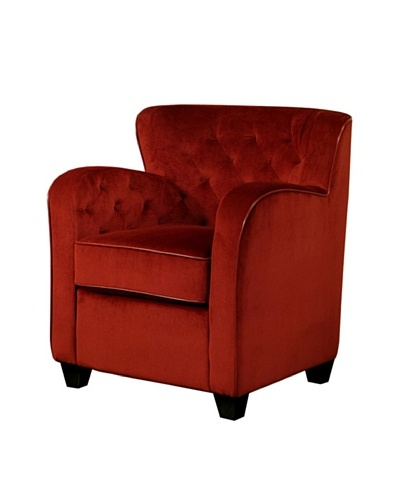 Abbyson Living Messena Red Microsuede Armchair, Cabernet