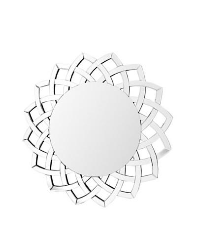 Abbyson Living Iza Lee Round Wall Mirror, Silver