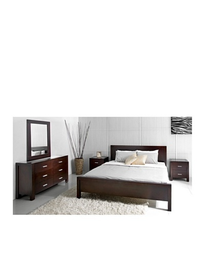 Abbyson Living West Park 5-Piece Cal-King Bedroom Set, Caramel Mocha