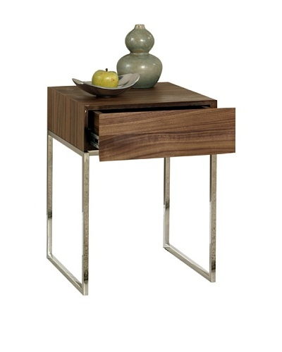 Abbyson Living Harbor Walnut End Table