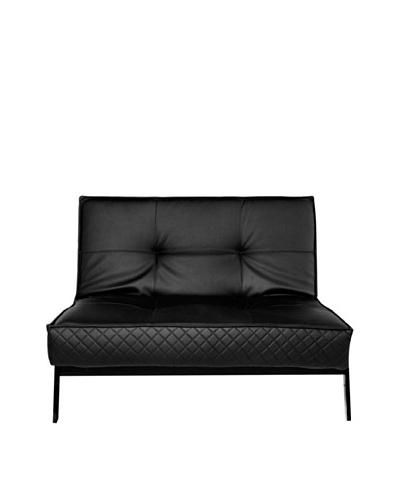 Abbyson Living Viviana Convertible Euro Chair Lounger, Jet Black