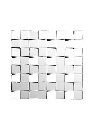 Abbyson Living Wynn Square Wall Mirror, Silver