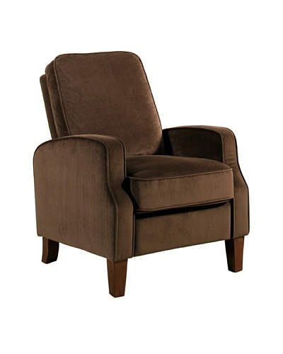 Abbyson Living Snapper Microsuede Pushback Recliner, Dark Brown