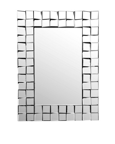 Abbyson Living Isabelle Rectangle Wall Mirror, Silver