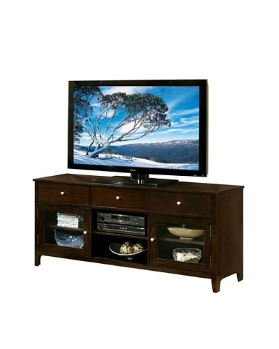 Abbyson Living Aussie Solid Oak Wood TV Console, Espresso