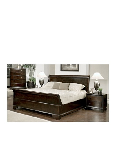 Abbyson Living Capriva 4-Piece Sleigh Bedroom Set