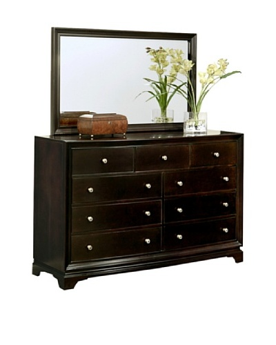 Abbyson Living Capriva 9-Drawer Dresser & Mirror Set