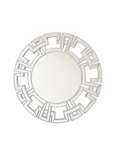 Abbyson Living Zentro Round Wall Mirror [Silver]