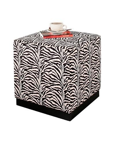 Abbyson Living Ebra Zebra Cube Ottoman, Zebra