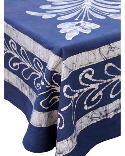Abigail's Tahiti Tablecloth, Blue/White, 60 x 60