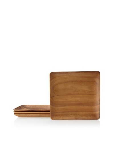 Pacific Merchants Acaciaware Set of 4 Square Serving Trays