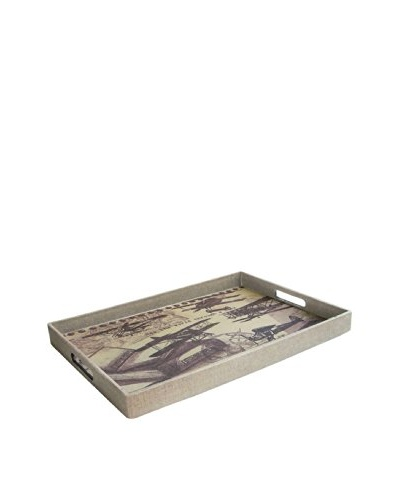 Accents by Jay Rectangle Tray with Handles, See the World Through A Book