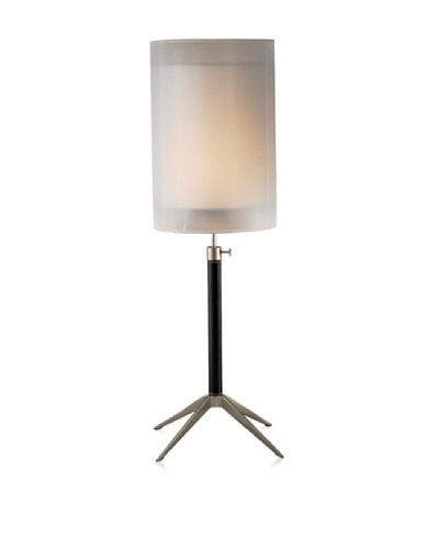 Adesso Santa Cruz Table Lamp, Black/Steel