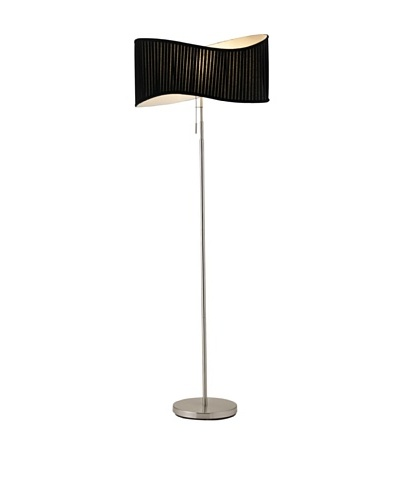 Adesso Symphony Floor Lamp, Satin Steel