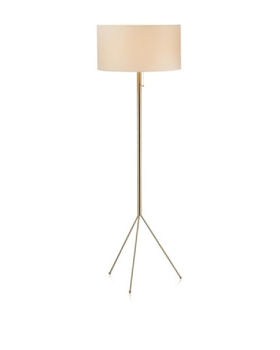 Adesso Tempo Floor Lamp, Satin Steel