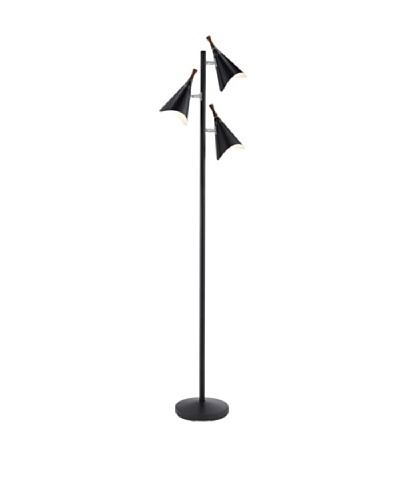 Adesso Draper Tree Lamp, Matte Black