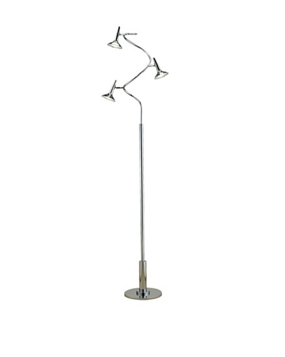 Adesso Radar Spiral LED Floor Lamp, Chrome