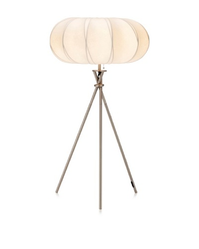 Adesso Cloud Table Lamp, Satin Steel