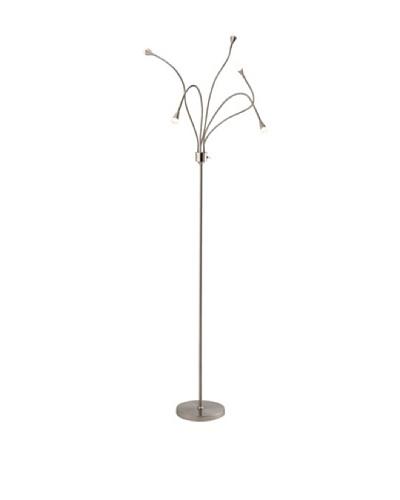 Adesso Firefly LED Floor Lamp, Satin Steel