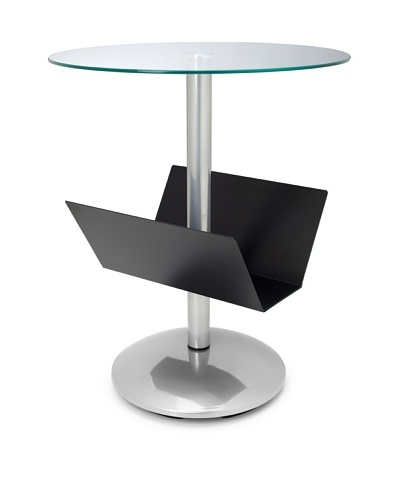 Adesso Sutton Magazine Table, Black