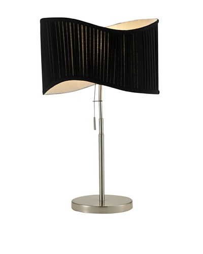 Adesso Symphony Table Lamp, Satin Steel