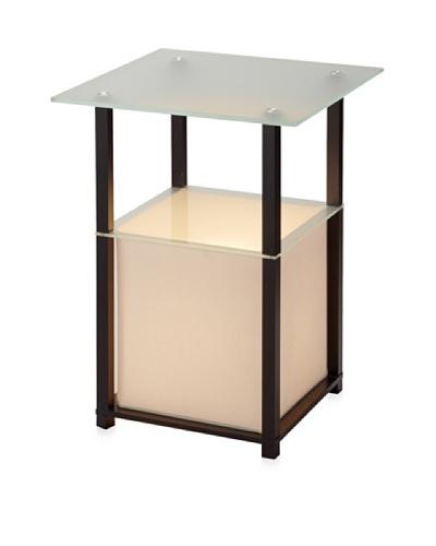 Adesso Marvin Light Table, Black, Square
