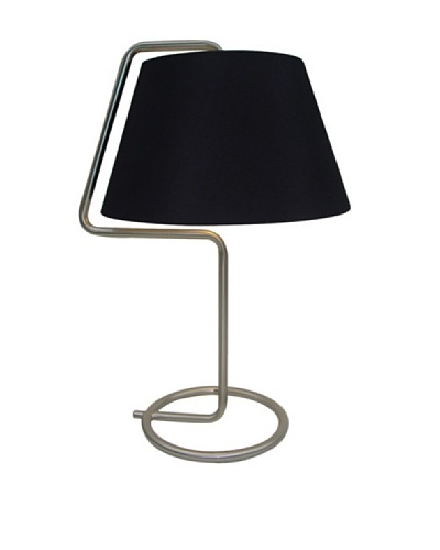 Adesso Thin Steel Desk Lamp, Black