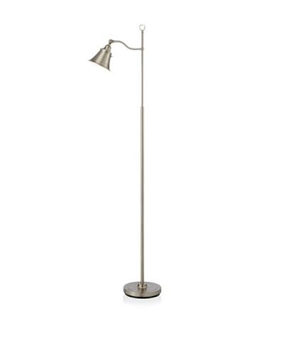Adesso Alexander Floor Lamp, Satin Steel