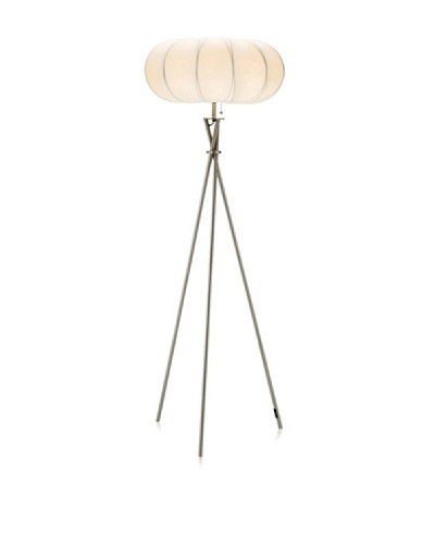 Adesso Cloud Floor Lamp, Satin Steel