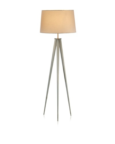 Adesso Producer Floor Lamp, Satin Steel